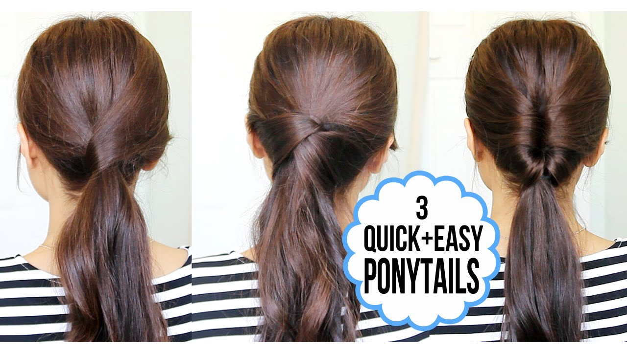 Running late ponytail ideas