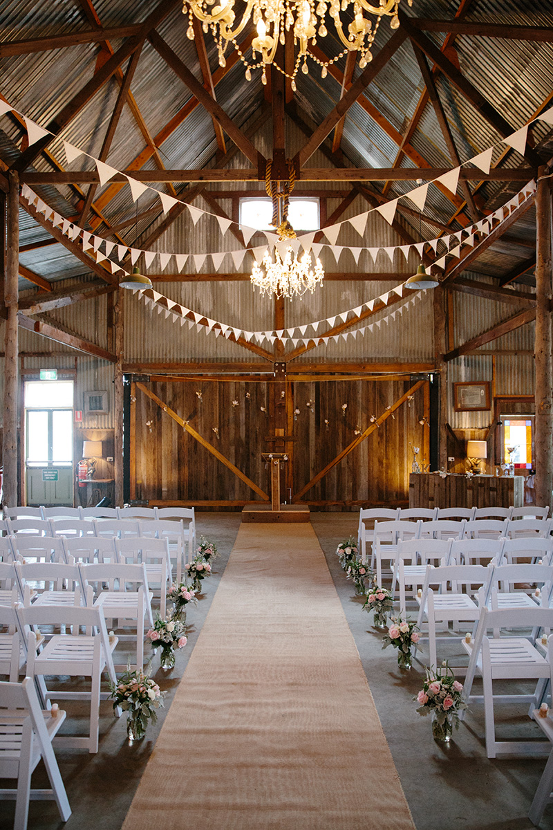 Rustic diy barn wedding bunting