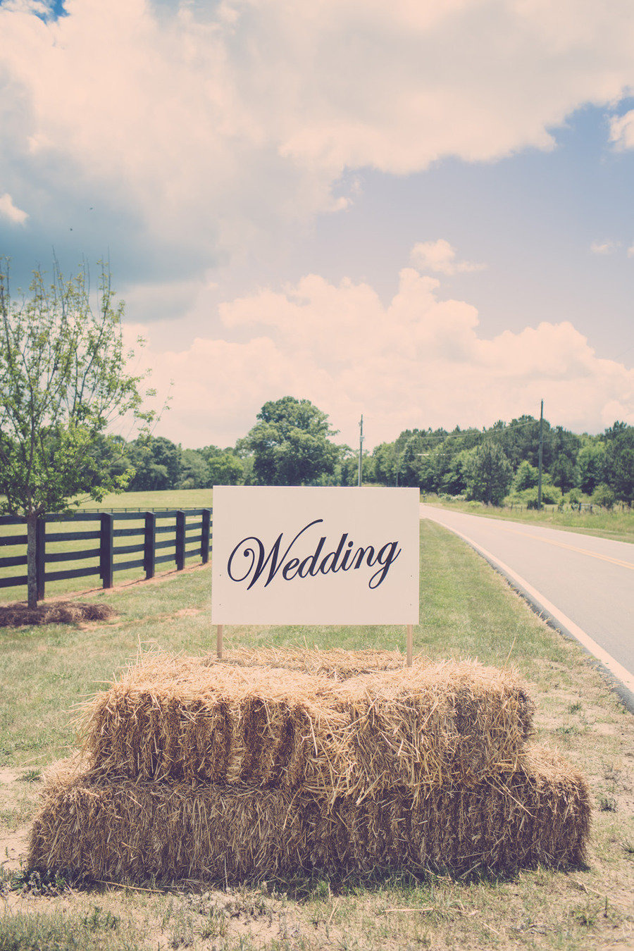 Rustic hay bales wedding
