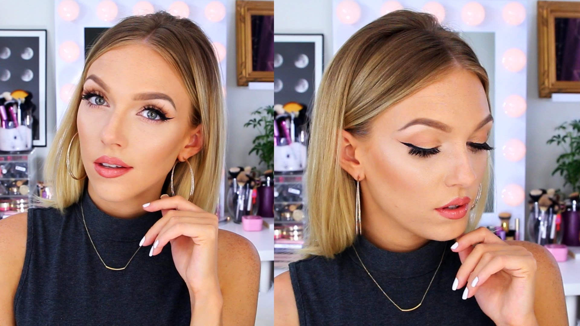 Sleek and straight hair tutorial