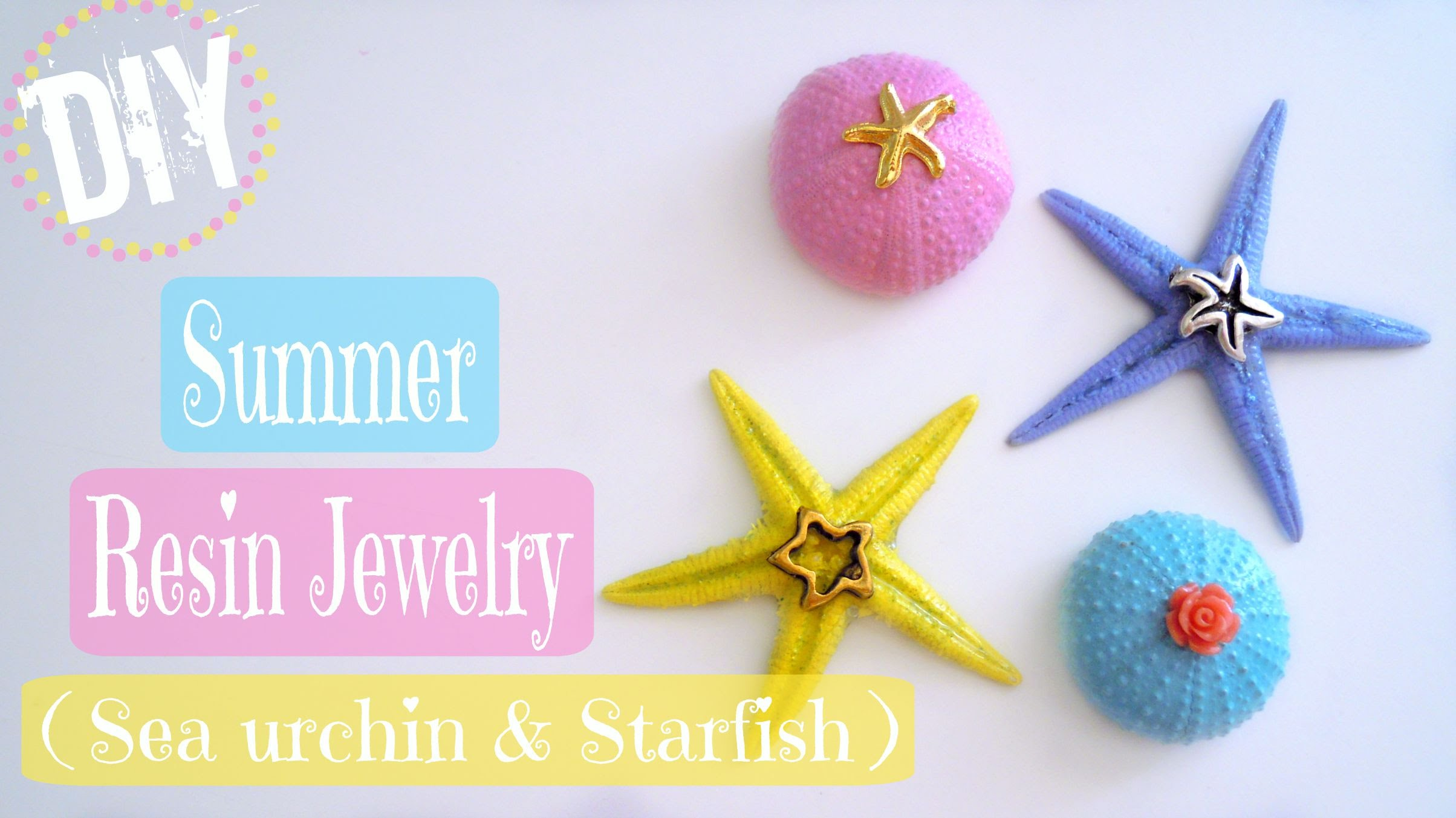 Summer resin jewelry diy