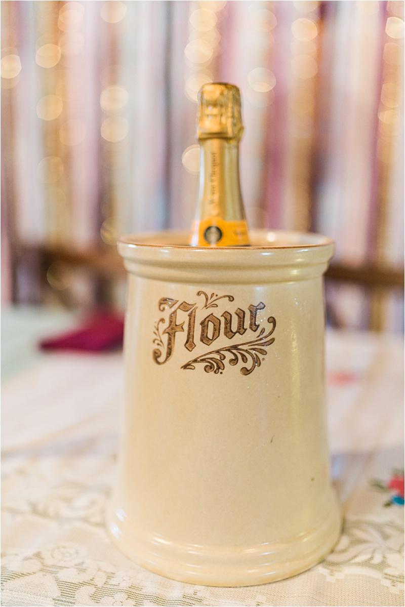 Vintage flour jar champange ice bucket