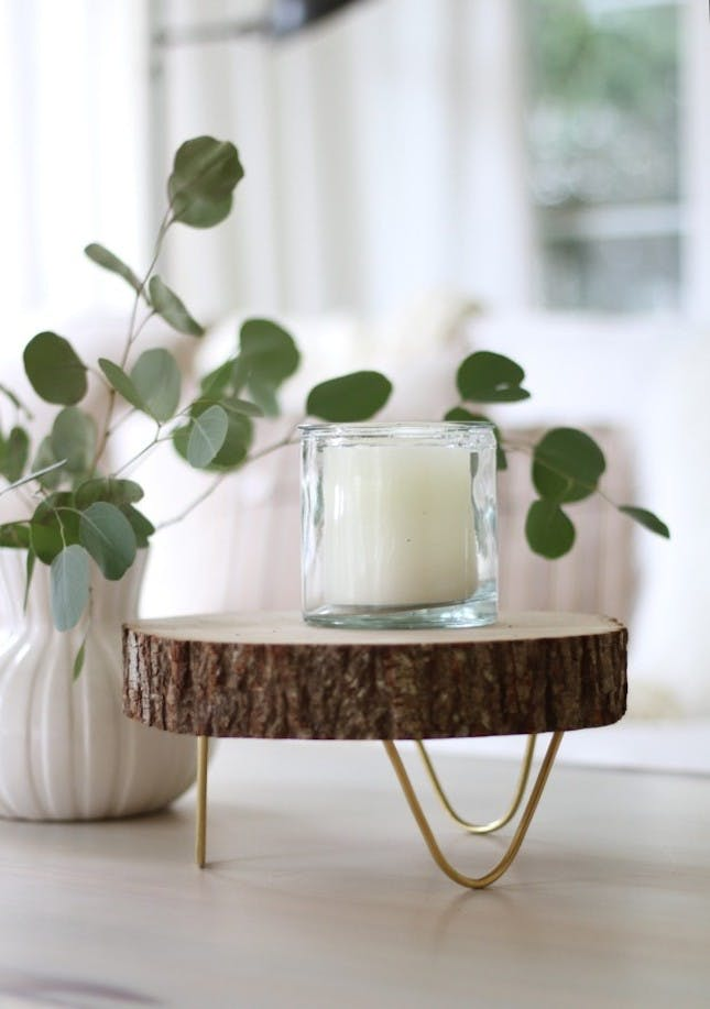 Woodslice table tray diy