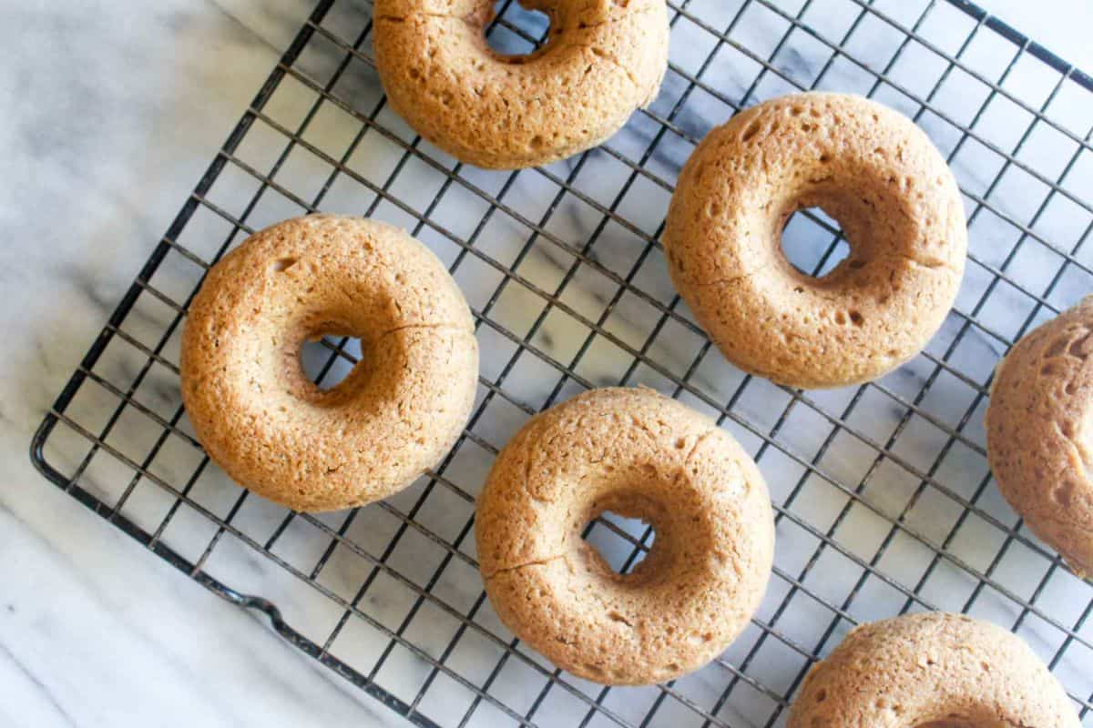 Baked pumpkin donuts with chai spice glaze bake