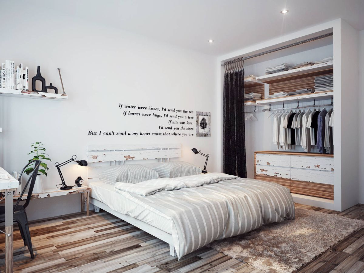 Bedroom wall quote design