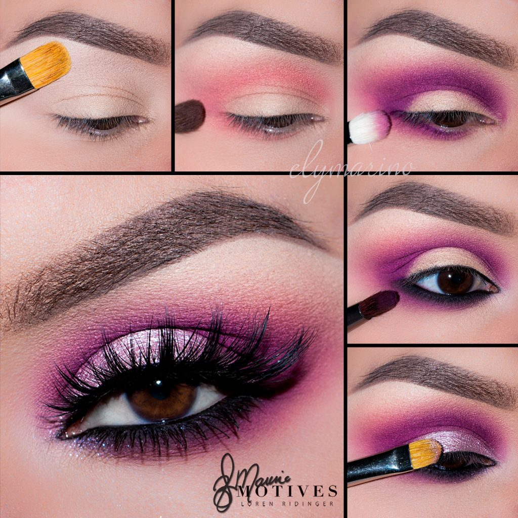 Blended pink eye with a lighter pink lid