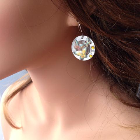 Butterfly resin earrings