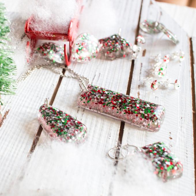 Christmas resin set