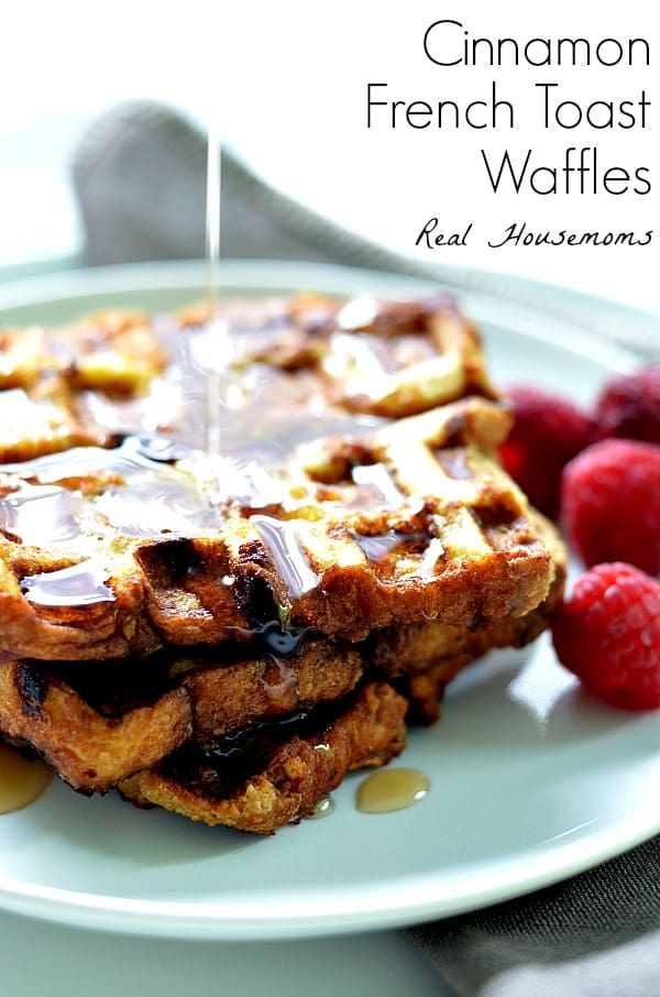 Cinnamon french toast waffles