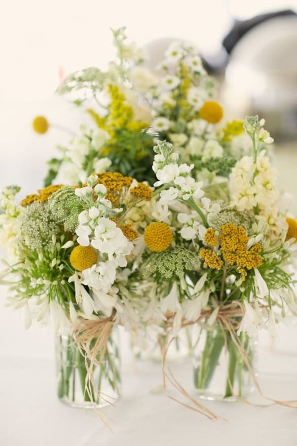 Cream yellow wedding flowers