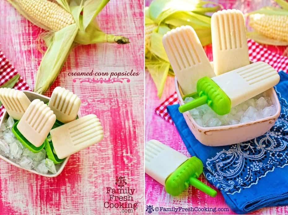 Creamed corn popsicles design
