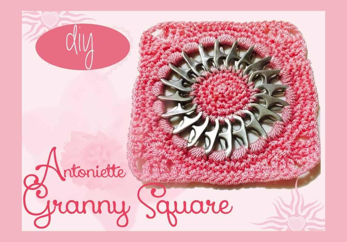 Diy antoinette pop tab granny square