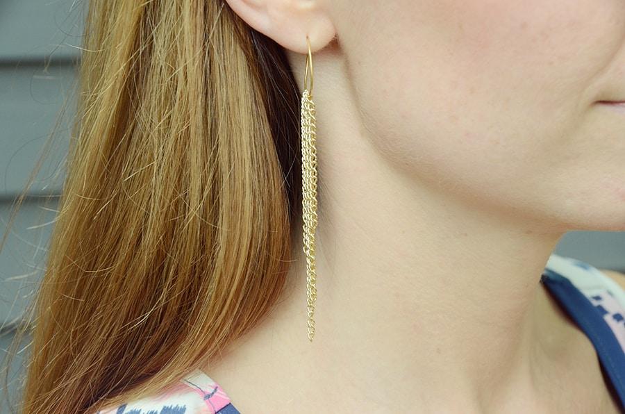 Diy chain loop earrings 7