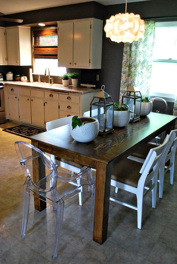Farmhouse Diy Dining Table Simple Wooden