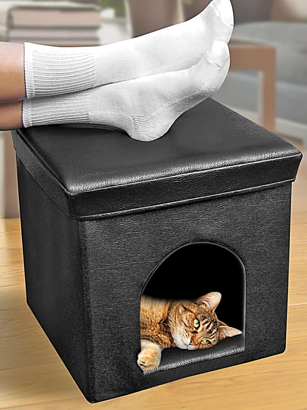 Diy cat house foot stool