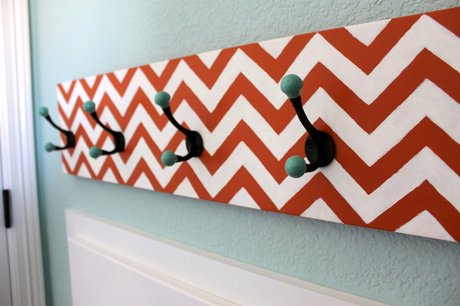 Diy chevron coat rack