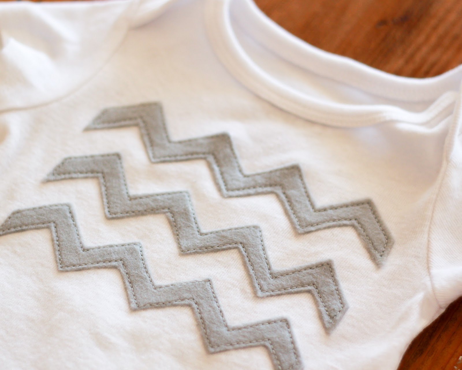 Diy chevron shirt stripes