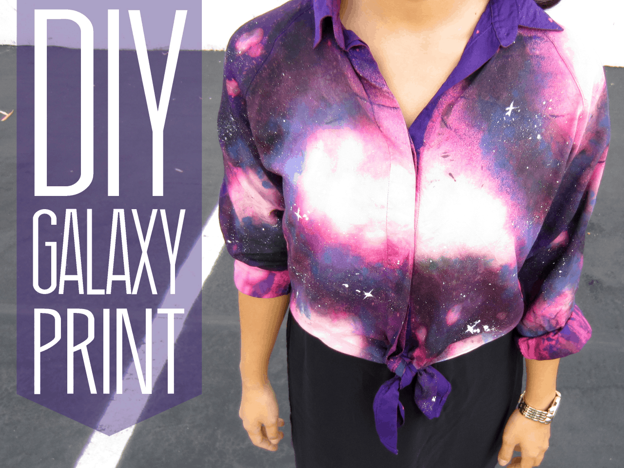Diy galaxy print shirt