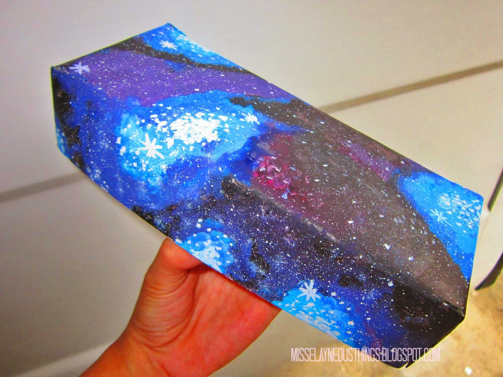 Diy galaxy wrapping paper