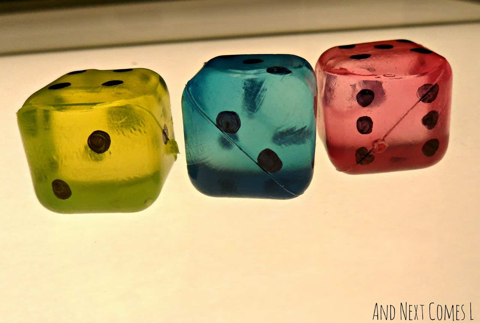 Diy jumbo light table dice
