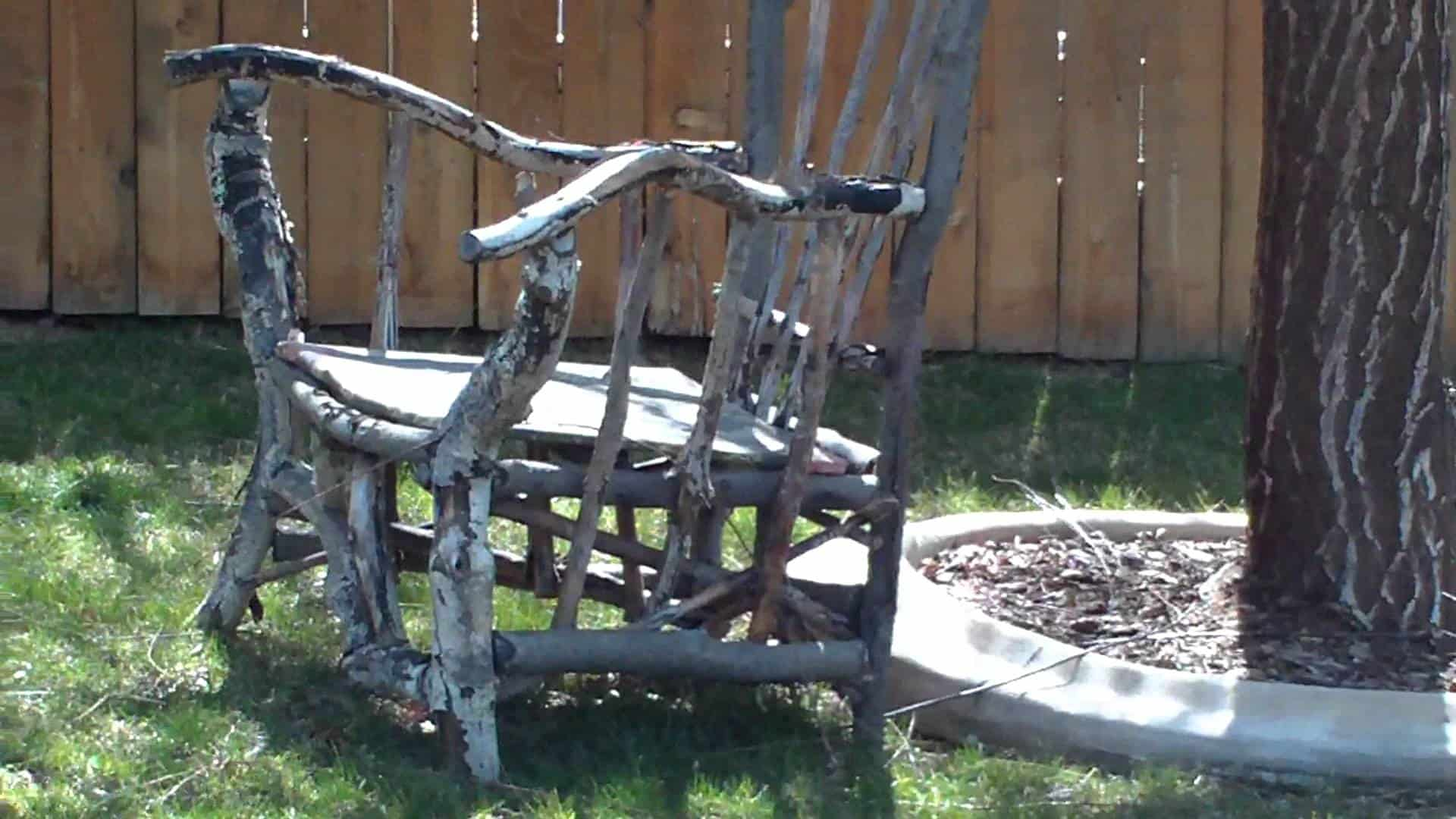 Diy tree branch chair