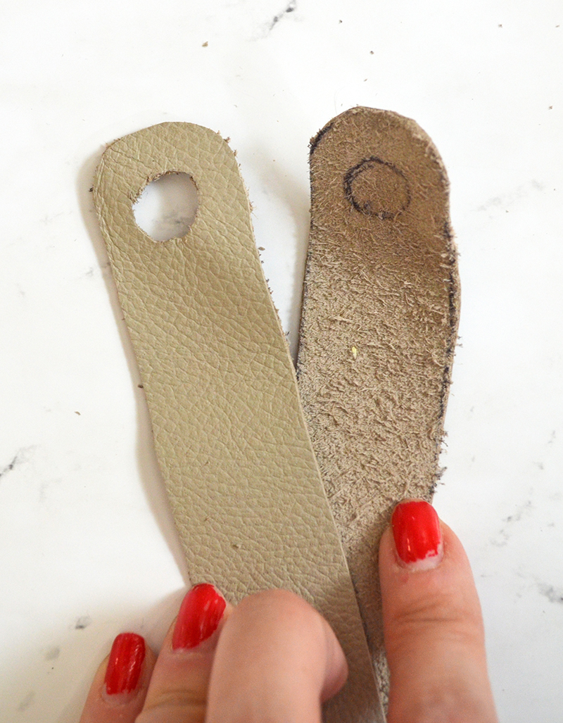 DIY Leather Plant Holder