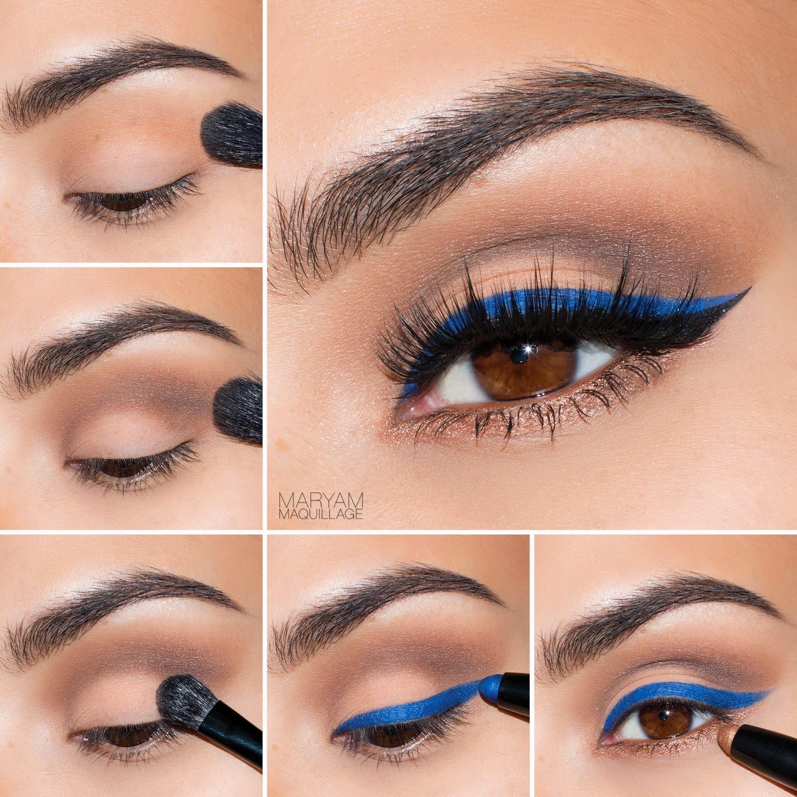 Double lined bright blue wing