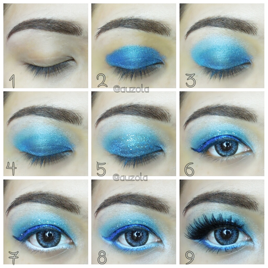 Feeling blue makeup