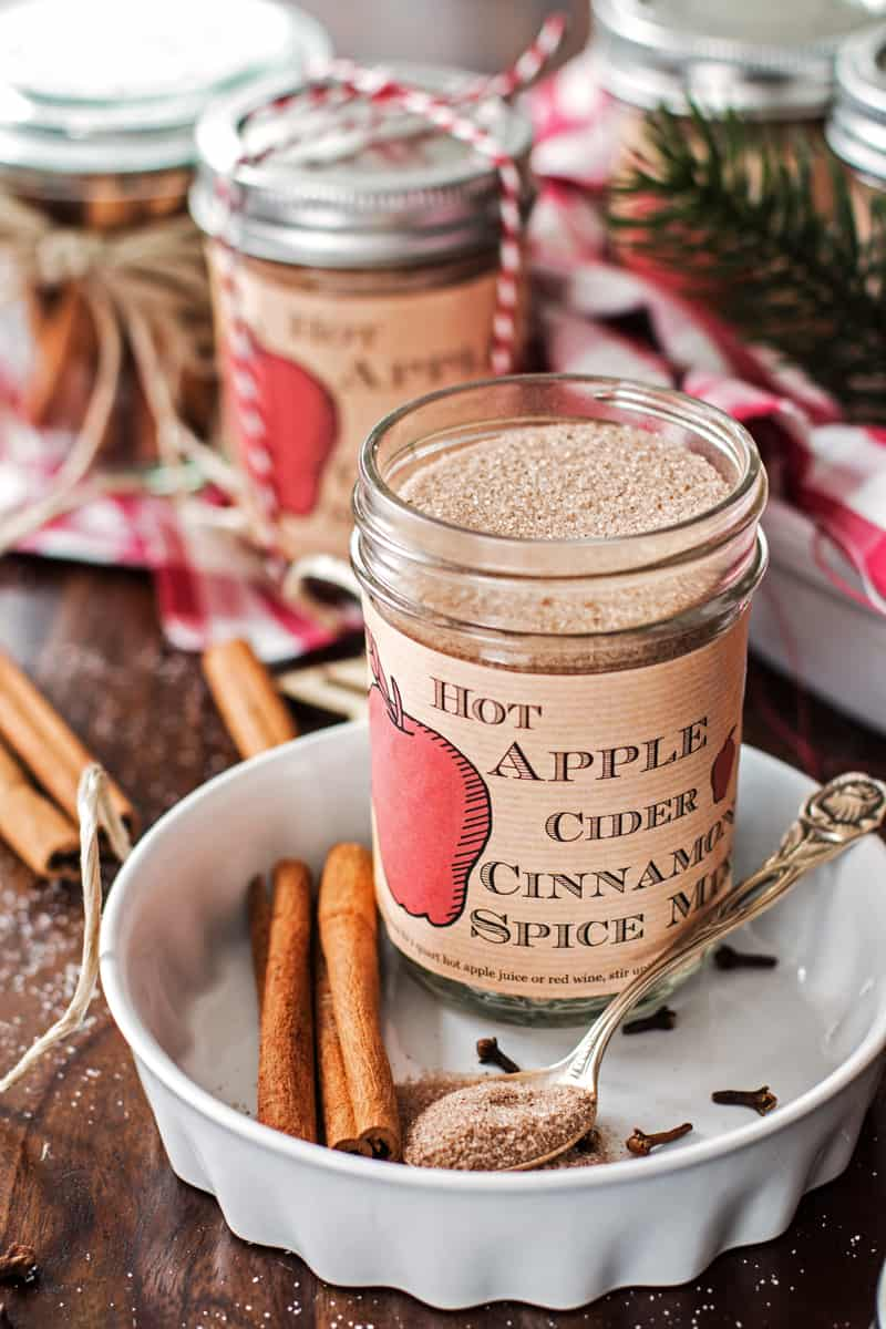 Hot apple cider cinnamon spice mix homemade food gift recipe 3