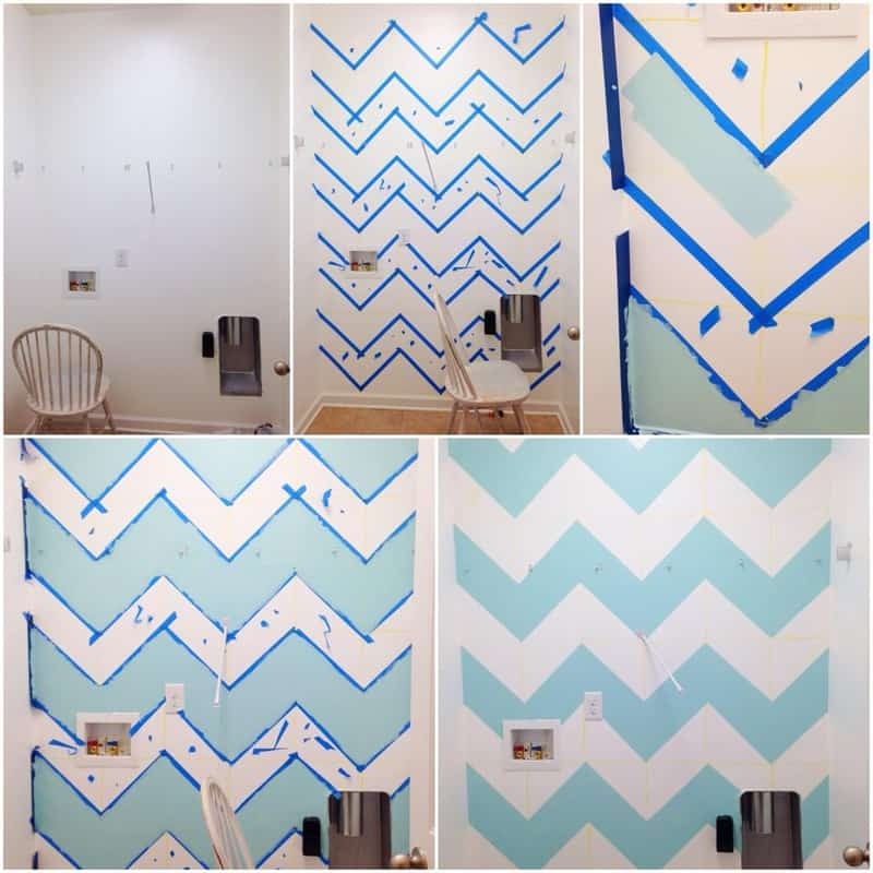 How to paint chevrons on the wall