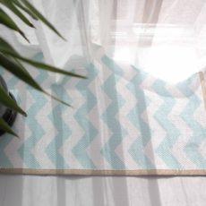 Painted chevron floor mat
