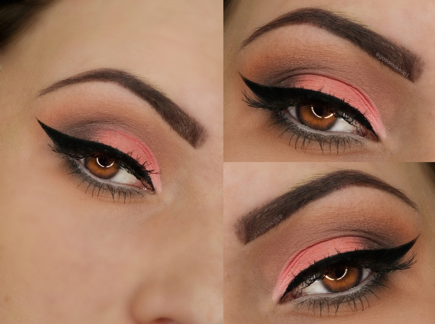 Peach pink with a clean black wing