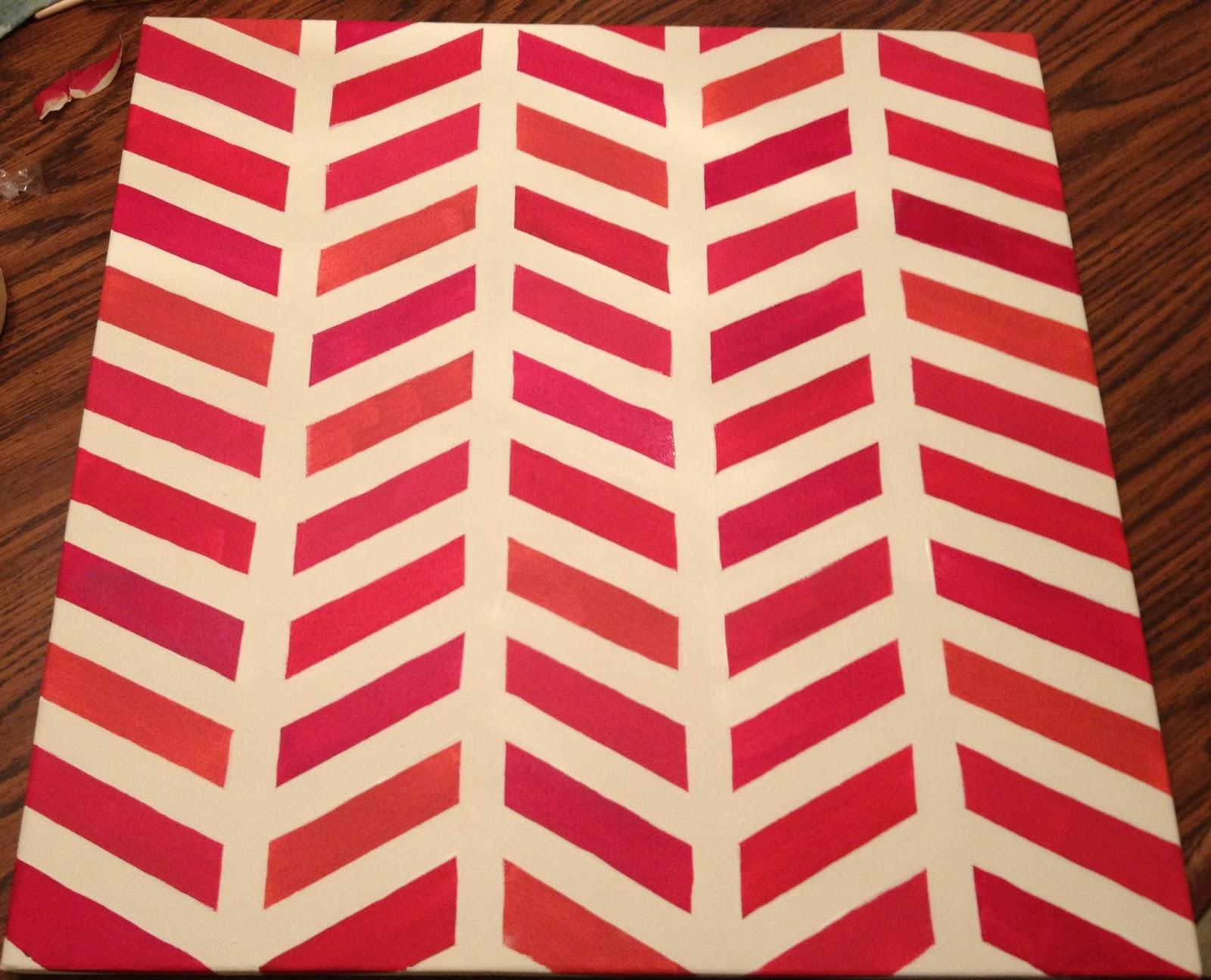 Awesome diy chevron projects for Tape painting on canvas