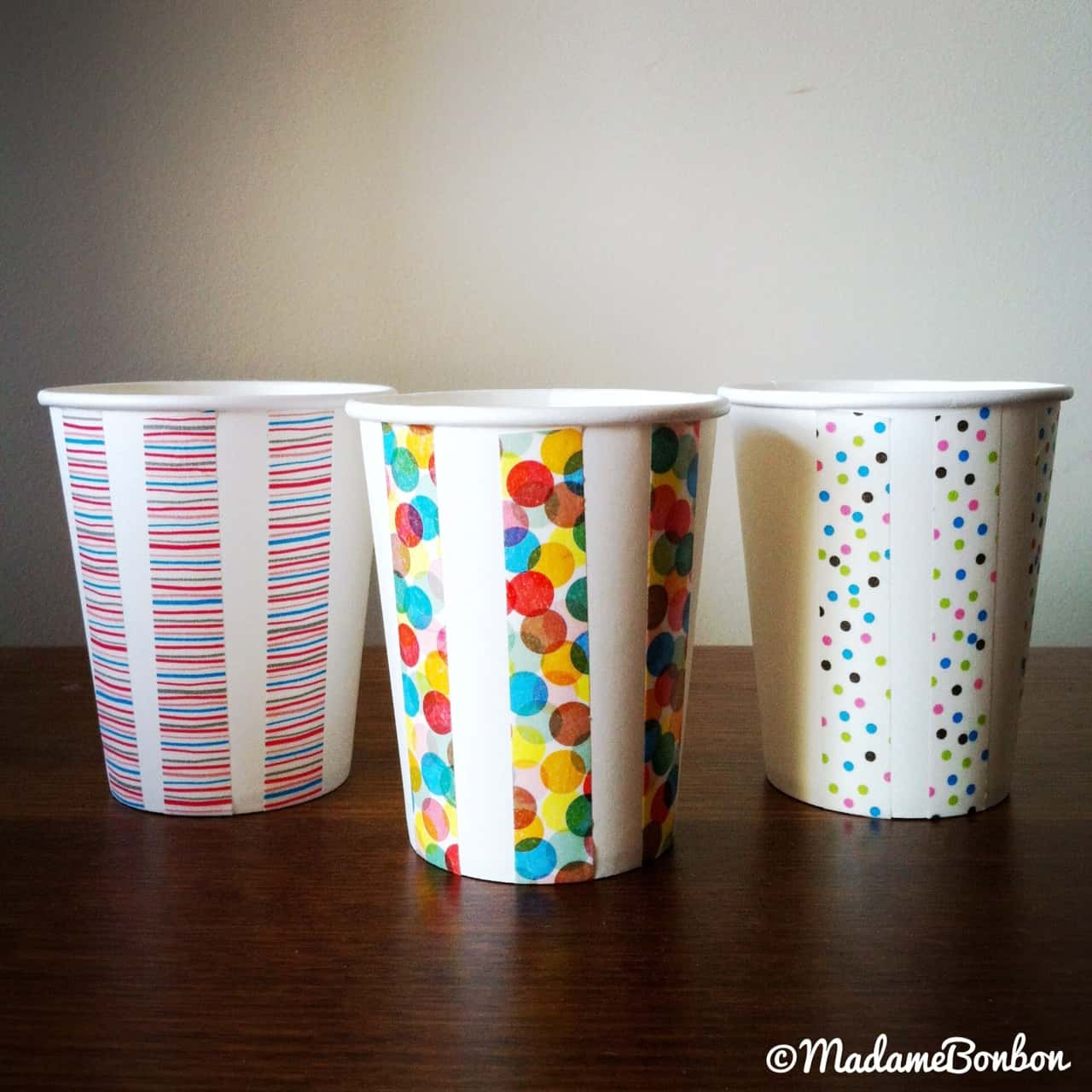 Crafts made with paper cups pretty washi tape paper cups jeuxipadfo Image collections