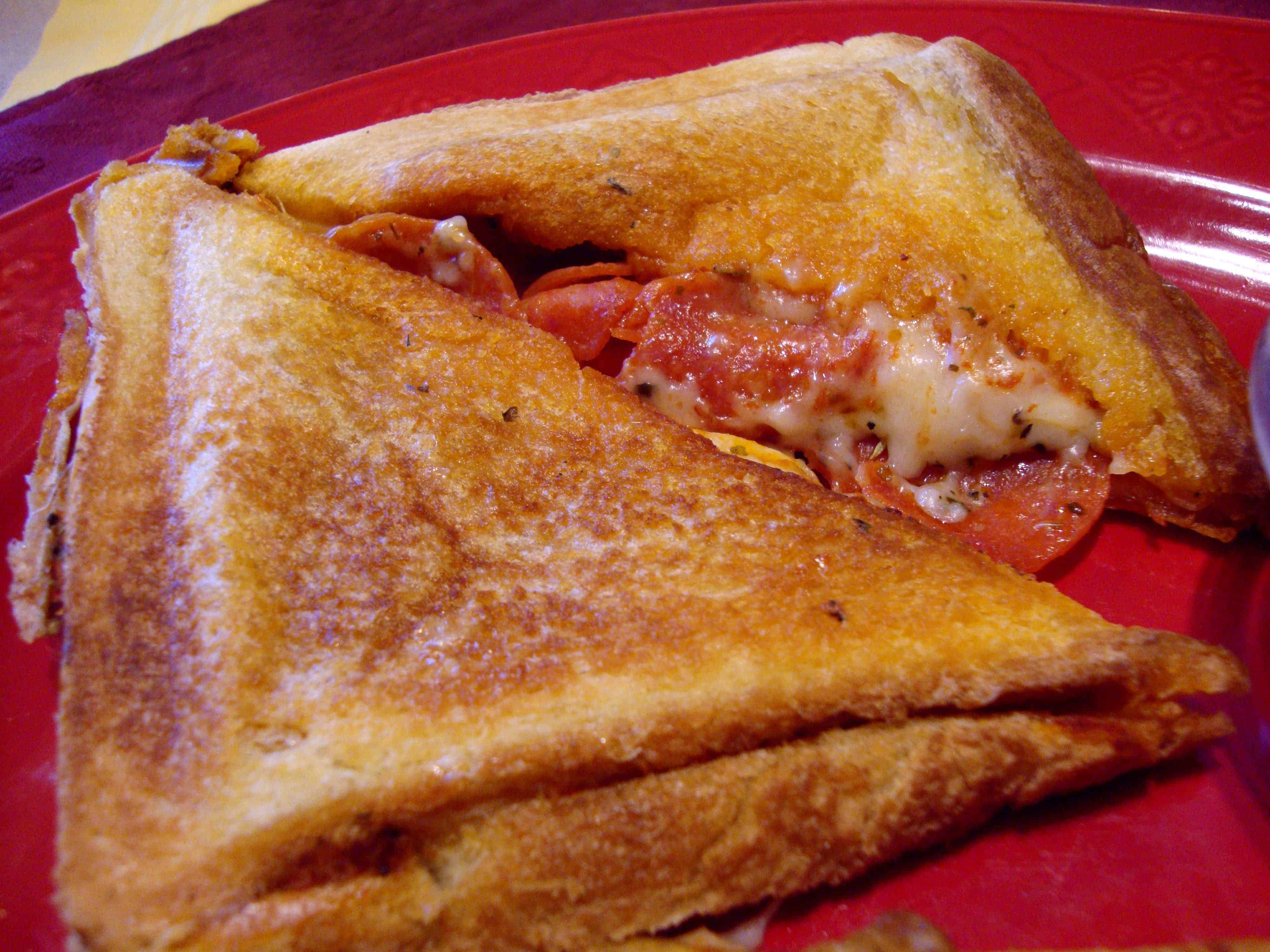 Pudgy pie pizza sandwich