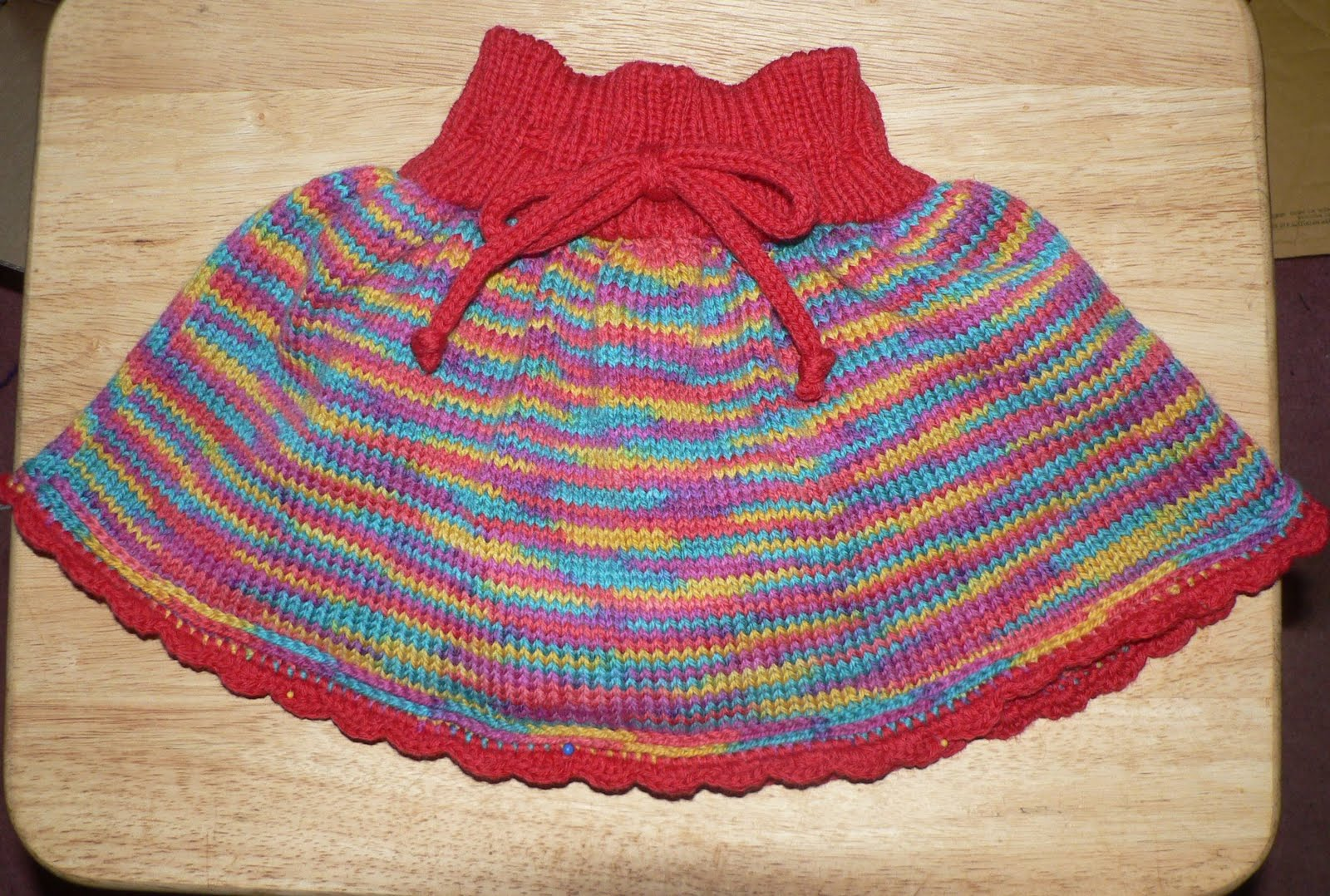 Rainbow skirt diaper cover