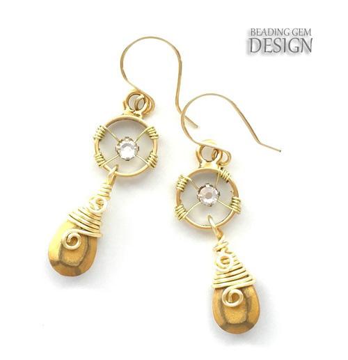 Resin gemstone earrings