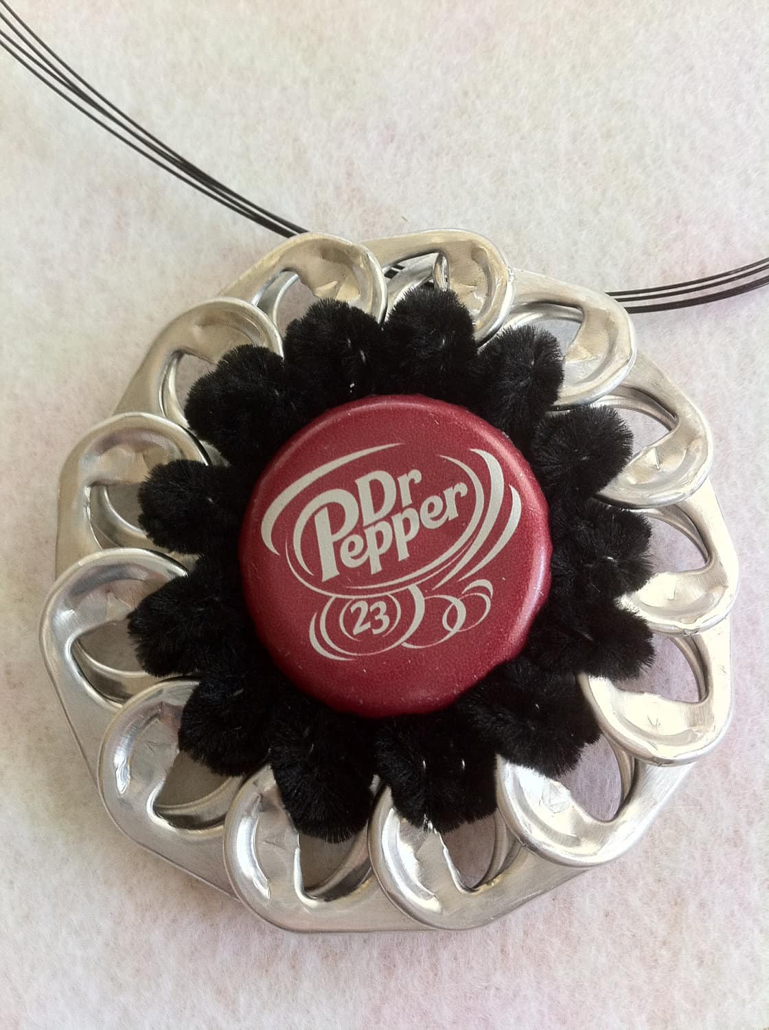 Soda tab and bottle cap pendants