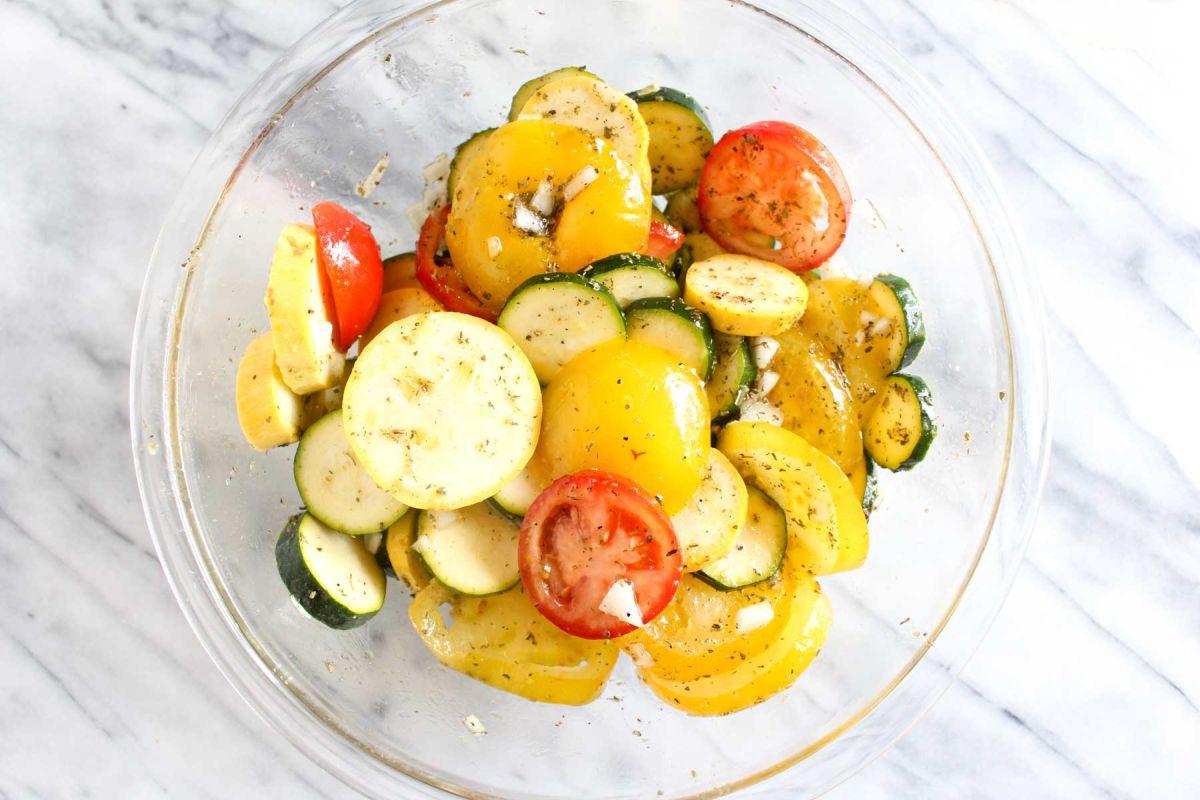 Summer squash and zucchini gratin add the zucchini