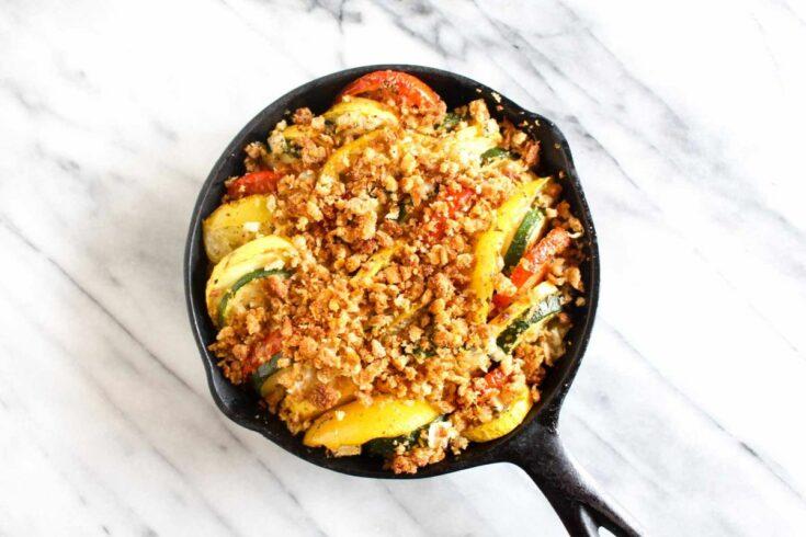 Summer squash and zucchini gratin add veggies