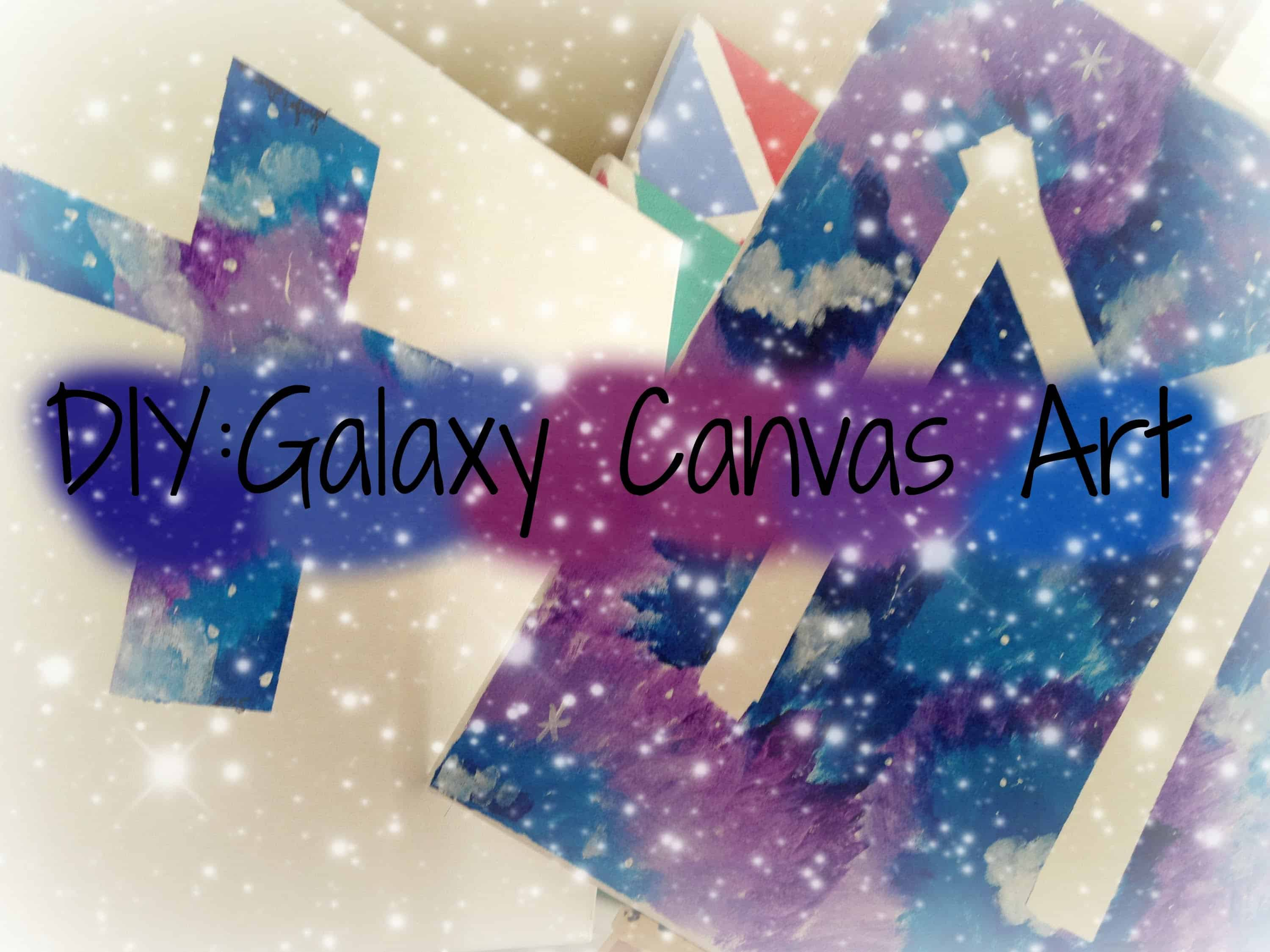 Tape shape galaxy canvas art