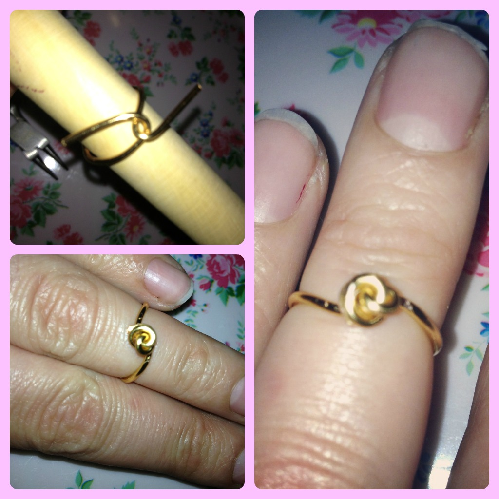 Tied knot knuckle ring