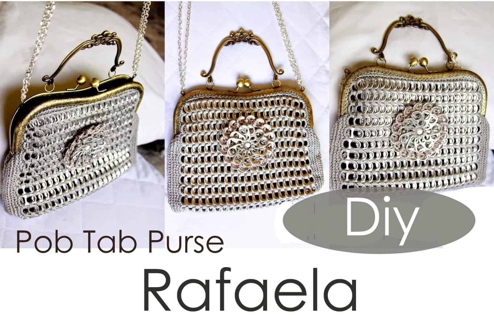 Vintage inspired pop tab chain clutch