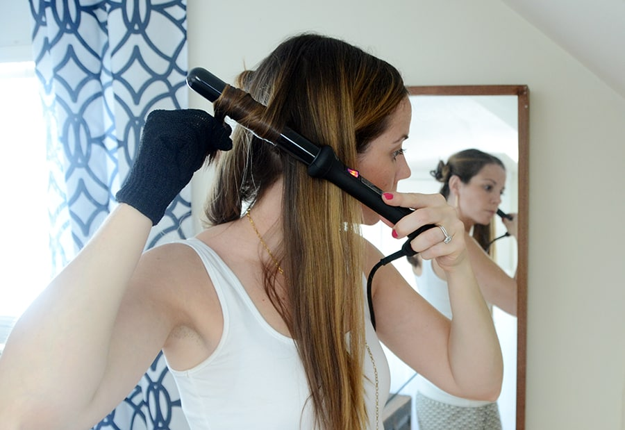 Create Beachy Waves In Your Hair With A Curling Wand