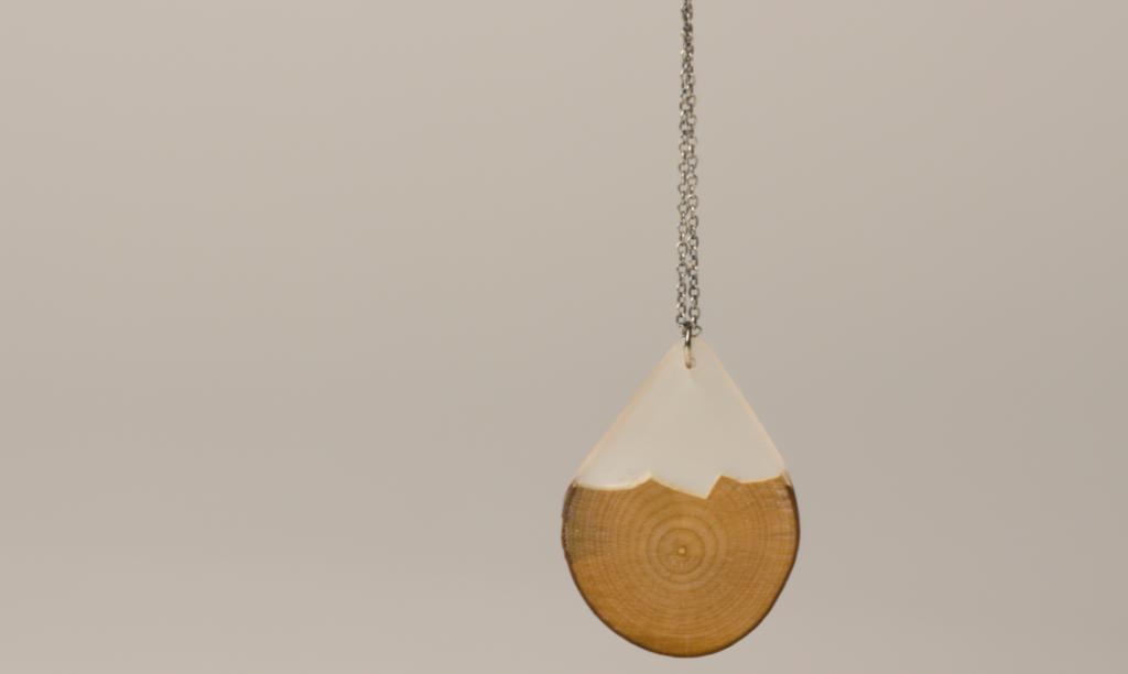 Wood and resin teardrop