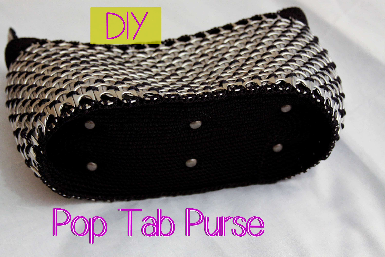Woven pop tab purse