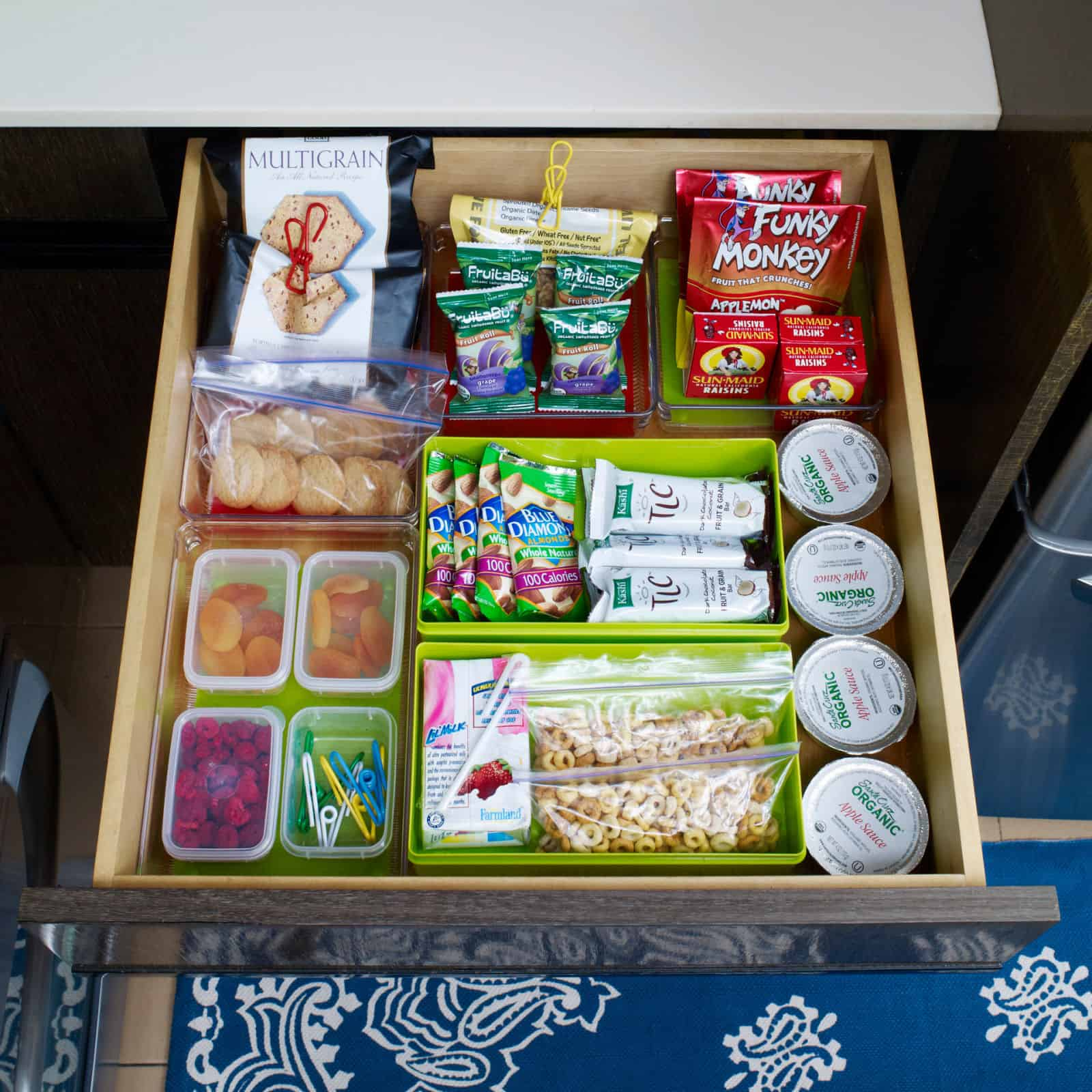 At home snack station for the kids