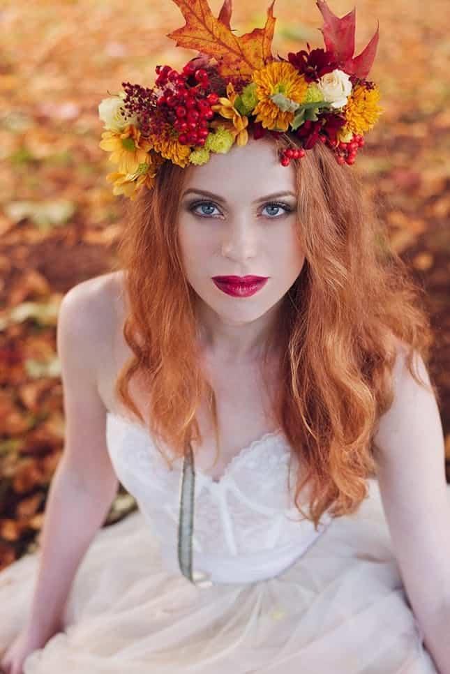Autumn wonderland flower crown