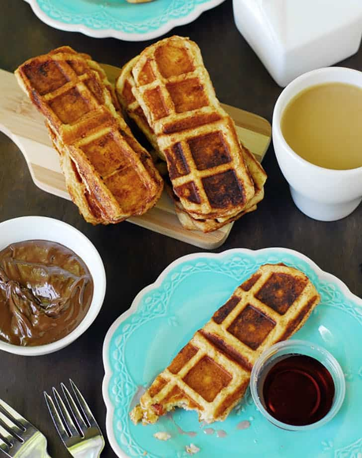 Bacon waffle dippers