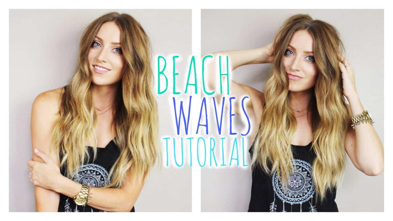 Beach waves hair